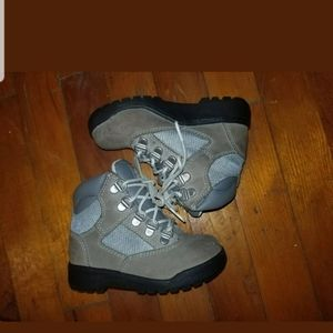 Gray field timberland boots boys size 9c